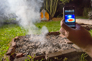 The Flir case makes an iPhone into a thermal imaging camera