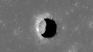 Large lunar cave could work for Moon colony