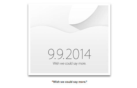 Apple Event invite for 9th September