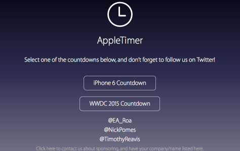 The Apple Timer site is available for other events