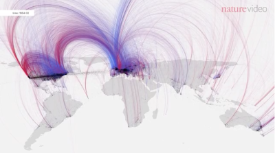 Cities plotted over 2600 years