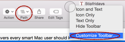 While you're at it, why not add a 1-click Path button and other features?