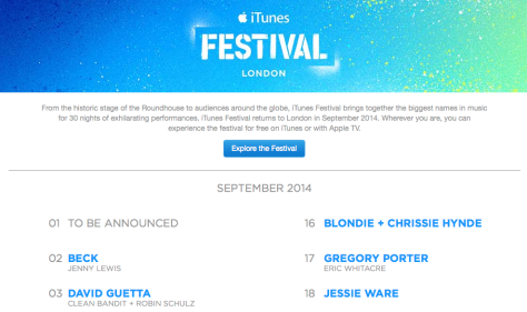 iTunes Festival has added even more acts