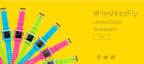 New Pebble smart watches in fashion colours (so, for NZ fashion, where's black?!)