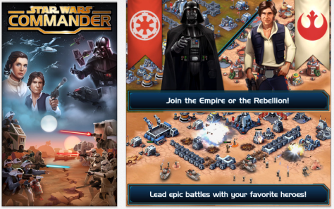 Star Wars Commander is free and interactive, from Disney