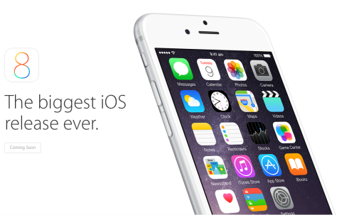 Apple's official iOS 8 page