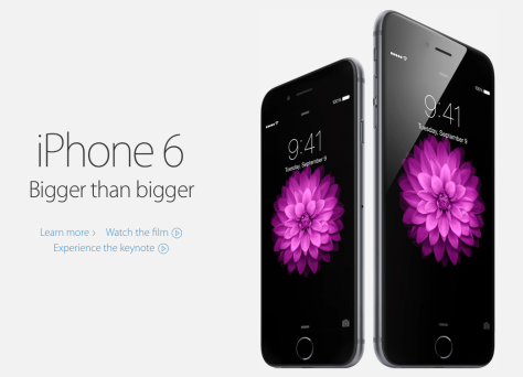 iPhone 6 has broken preorder records (picture form Apple Inc). NZ gets the new iPhone from 26th September.