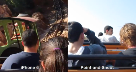 The iPhone 6 Cinematic Stabilisation demonstrated vs a point-and-shoot