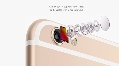 New cameras in both models of 6 have six lens elements and an infra-red filter