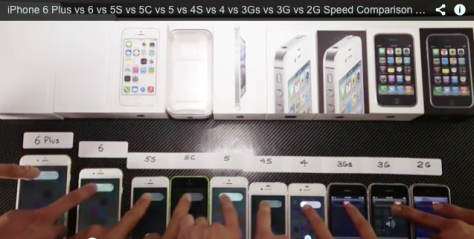 iPhones from the 2g up to 6+ speed-tested