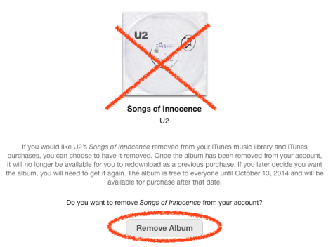 Get rid of the new 'free' U2 album with a couple of clicks from Apple's new link