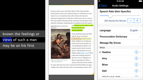 Voice Dream Reader automates your iOS book reading