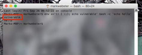 You can check if your system is vulnerable with a Terminal command
