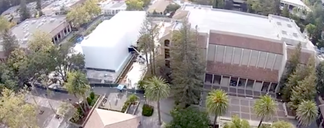 Mystery white box appears next to Apple media event site