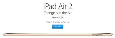 iPad Air 2 from NZ$749