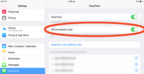 If you have iOS 8 and a later iPhone/iPad, you can use your iPad for calls. It's hany being able to answer on an iPad when your phone's somewhere else.