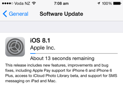 iOS 8.1 is now available