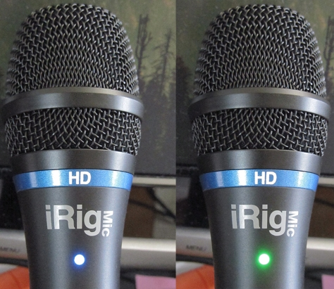 The changing LED means you can spot peaks even across the room and away from your recording app