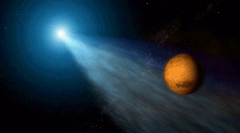 Comets from the Oort cloud are both ancient and rare. This one will bathe Mars in its light tail