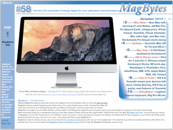 MagBytes 58 is now available: Yosemite, iOS 8, new iPads, new iMac