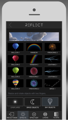 Add all sorts of extras to photos, with filters