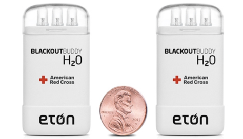 Blackout Buddy H2O's shelf-stable magnesium-oxide battery remains inert until water kickstarts the chemical reaction that provides electricity to the three white LED bulbs