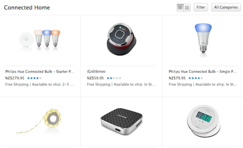 Apple's online NZ store already has a lot of 'Connected Devices' for sale