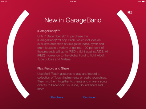 For just $1.29 you can add substantially to your iOS Garageband loops and support Project RED