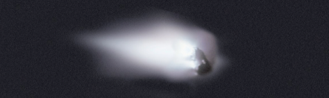 The satellite Giotto got to a mere 600 meters of the famous fiery Halley's comet
