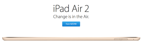 iPad Air 2 is faster, slimmer, better (image courtesy Apple Inc)