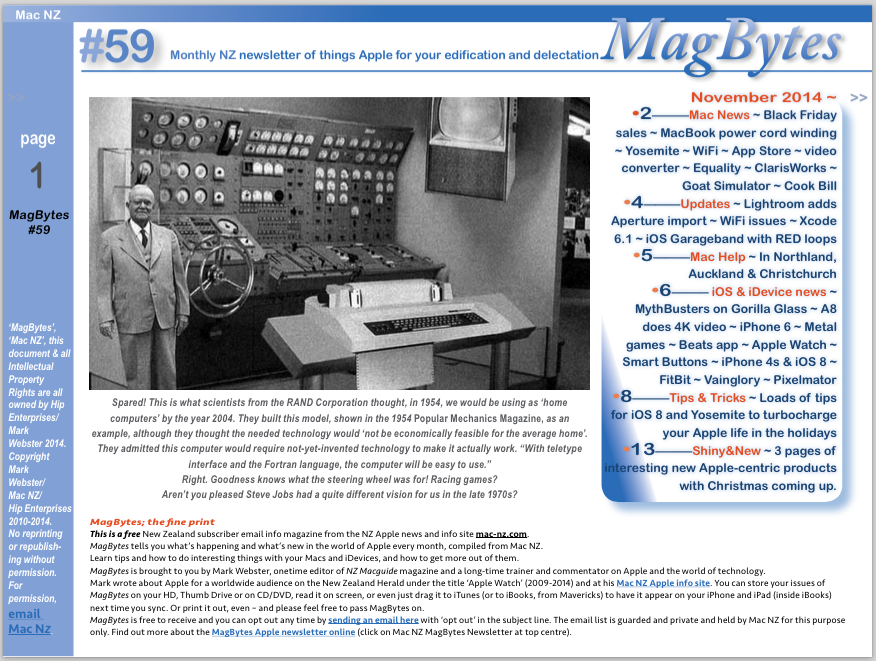 MagBytes #59, November 2014, available for download