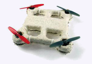 Made of mushrooms, the drone decomposes when you lose it