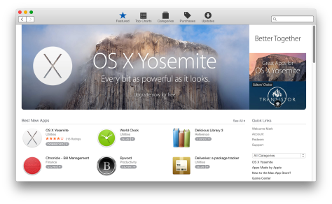 The Mac App store goes flat (visually) – it's still by far the best place to hunt for Mac software
