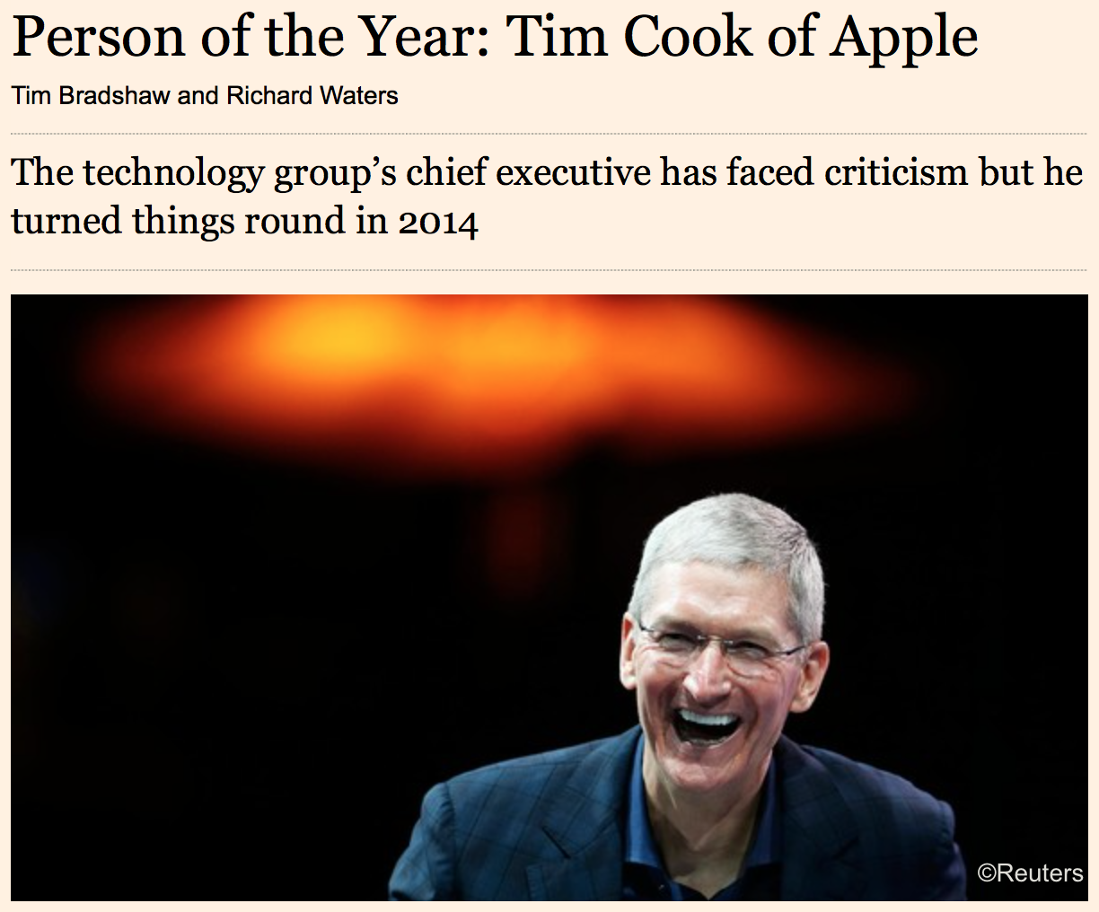 Tim Cook of the year