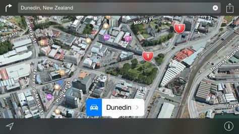 Dunedin just got Flyover in Apple Maps