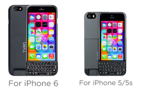 Typo has announced the Typo 2 for the iPhone 6 and iPhone 5/5s adds a little physical, Blackberry-like keyboard
