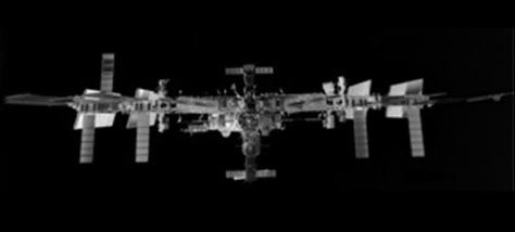 Space Station shot in Infra-Red