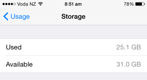 Open Settings on iPhone or iPad, tap General, tap Usage and you'll see how much storage space you have under Manage Storage.