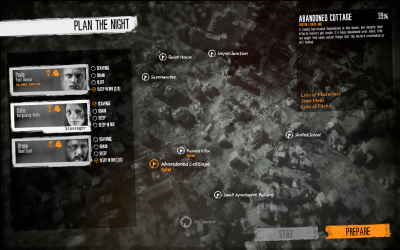 Choose night destinations for dangerous scavenging raids