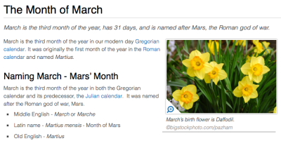 March is the month of Mars