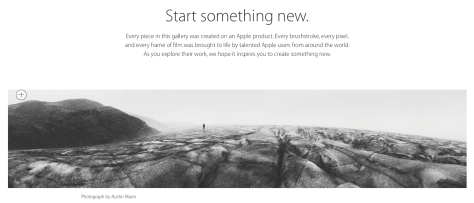 Apple wants you creating with Apple products this year