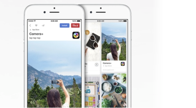 New app Pins will link to an iOS app and allow you to download the app to your phone without leaving the Pinterest app.