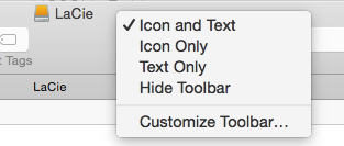 Customise your toolbars