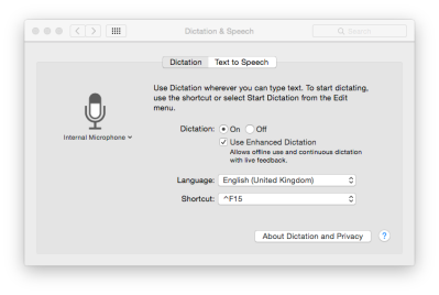 Your Mac can listen to your words and type them out.