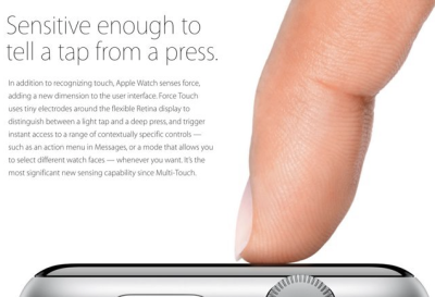 Force Touch is in the Apple Watch and the new MacBook trackpad. What's next?