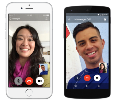 Facebook's new video calling feature is available in the iOS and Android Messenger apps.