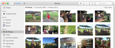 Photos arrived with OS 10.10.3 ... iPhoto is now dead.