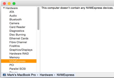 If your Mac can handle it, NVMe for SSDs reduces latency by 50 percent.