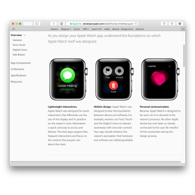 Apple has added to the Human Interface Guidelines for Apple Watch