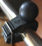 Nice, firm clip securely fastens the LifeProof to the handlebar.